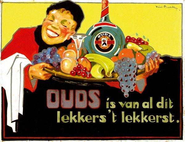 9: Poster by Nico Baak - Ouds is van al dit lekkers 't