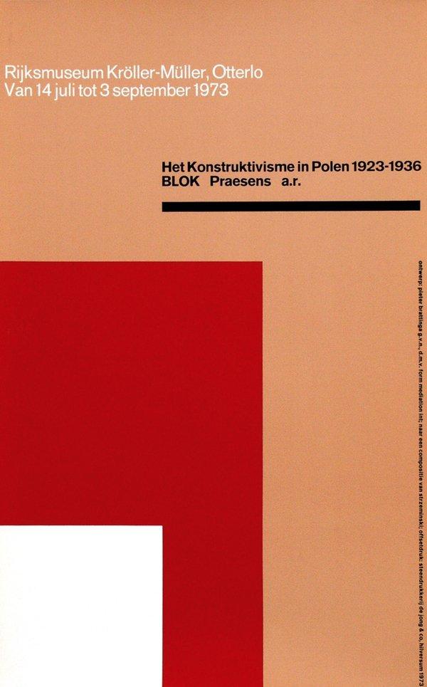 10: Posters(8) by Pieter Brattinga - Museum Kröller-Mül
