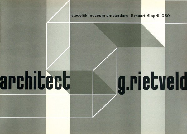 12: Poster by Willem H. Crouwel - architect g. rietveld