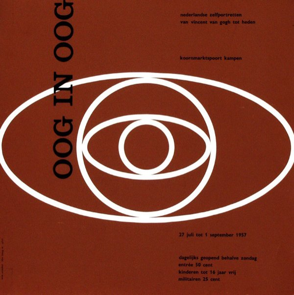 17: Poster by Willem H. Crouwel - oog in oog