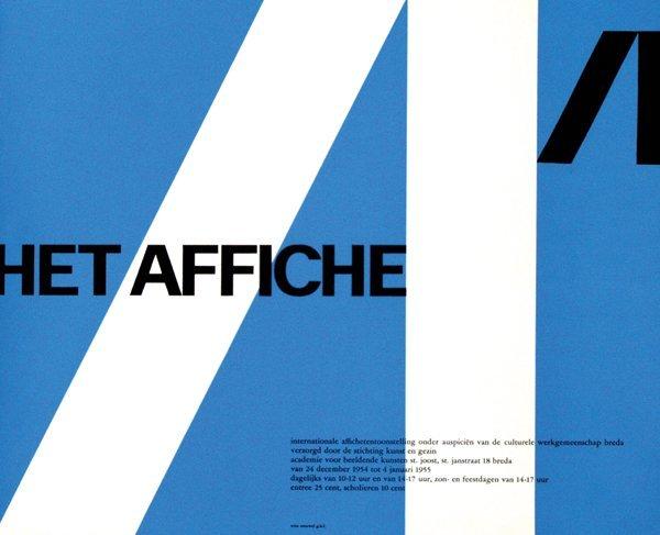 18: Poster by Willem H. Crouwel - Het Affiche in academ