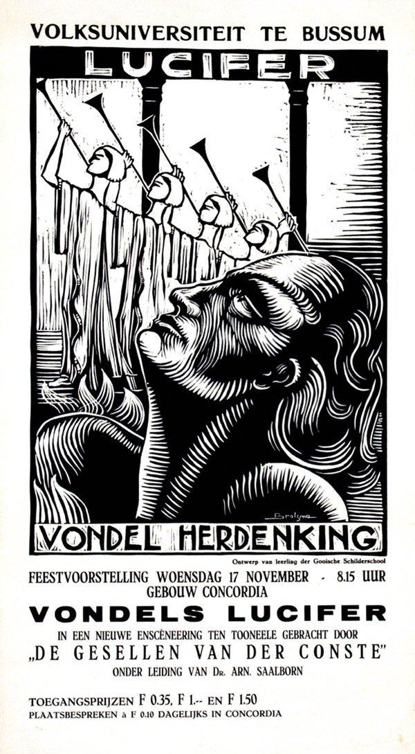 20: Poster by  Brolsma - Volksuniversiteit te Bussum, L