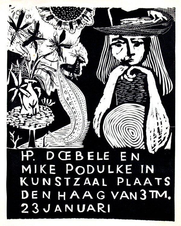 21: Poster by Hans P. Doebele - HP. Doebele en Mike Pod