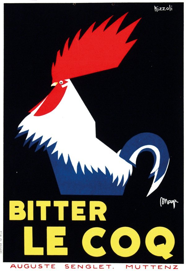 68: Poster by Marcello Nizzoli - Bitter Le Coq
