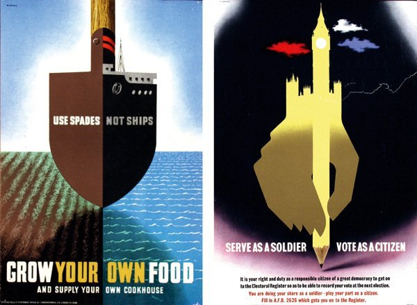 118: Posters(2) by Abram Games - Grow your own Food
