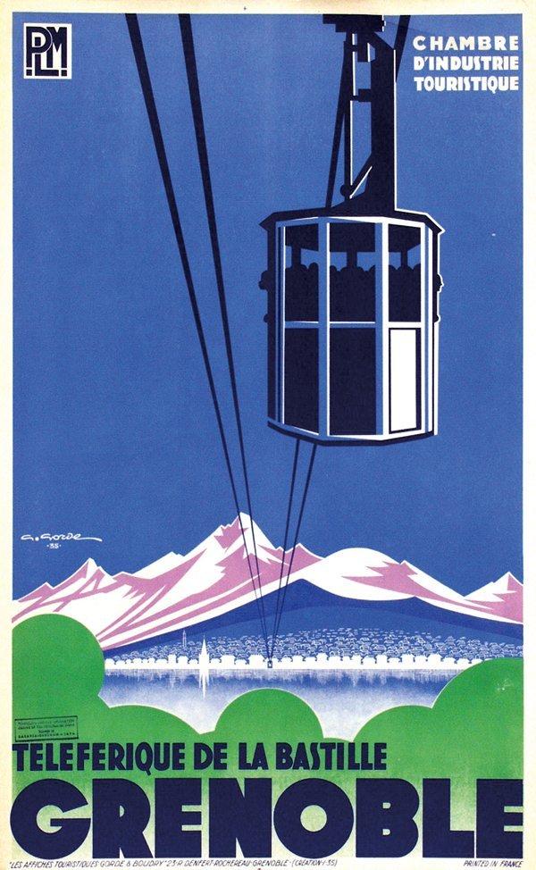 422: Poster by Gaston Gorde - Grenoble