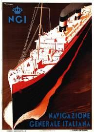 926: Poster by Guiseppe Riccobaldi - NGI Navigazione