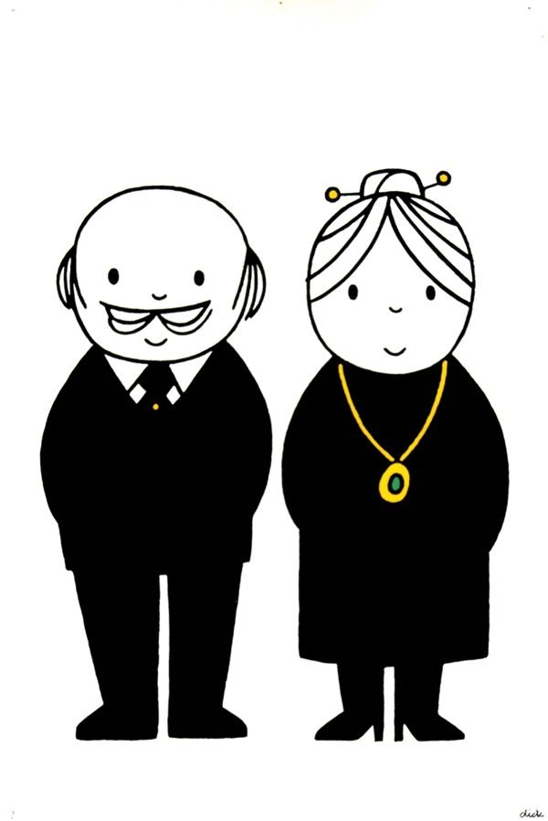 8: Poster by Dick Bruna - without text old couple