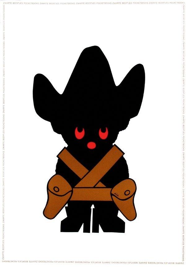 9: Poster by Dick Bruna - zwarte beertjes pocketbooks