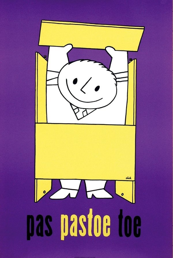 10: Poster by Dick Bruna - pas pastoe toe