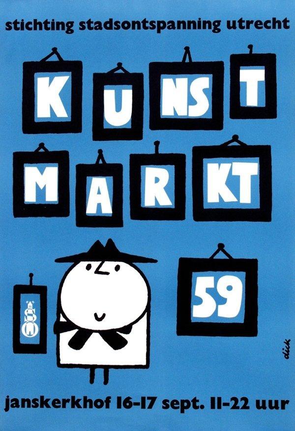 13: Poster by Dick Bruna - Kunst Markt