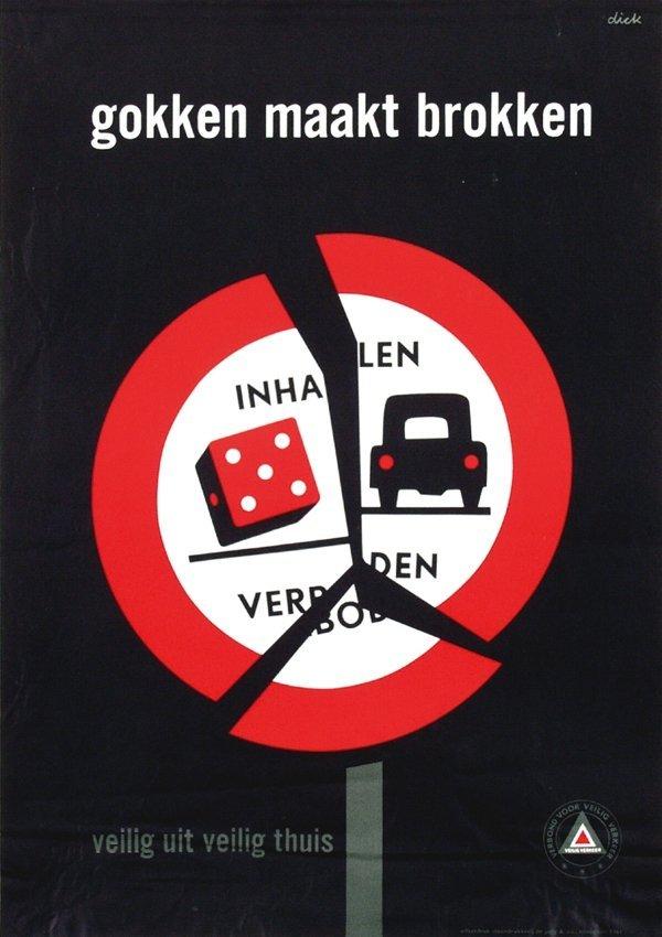 14: Posters(3) by Dick Bruna - gokken maakt brokken