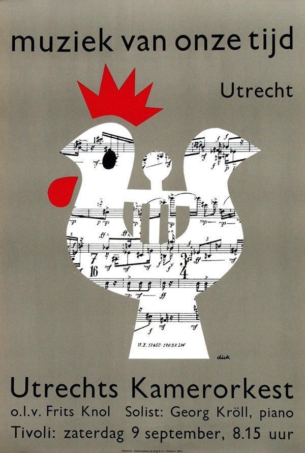 17: Poster by Dick Bruna - Muziek van onze tijd Utrecht