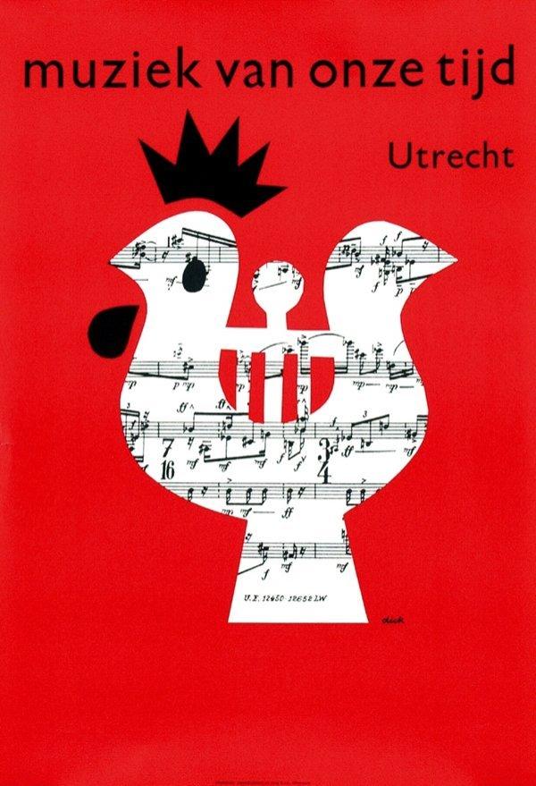 18: Poster by Dick Bruna - Muziek van onze tijd