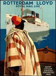 376: Poster by Joseph Rovers - Rotterdam Lloyd Royal Ma