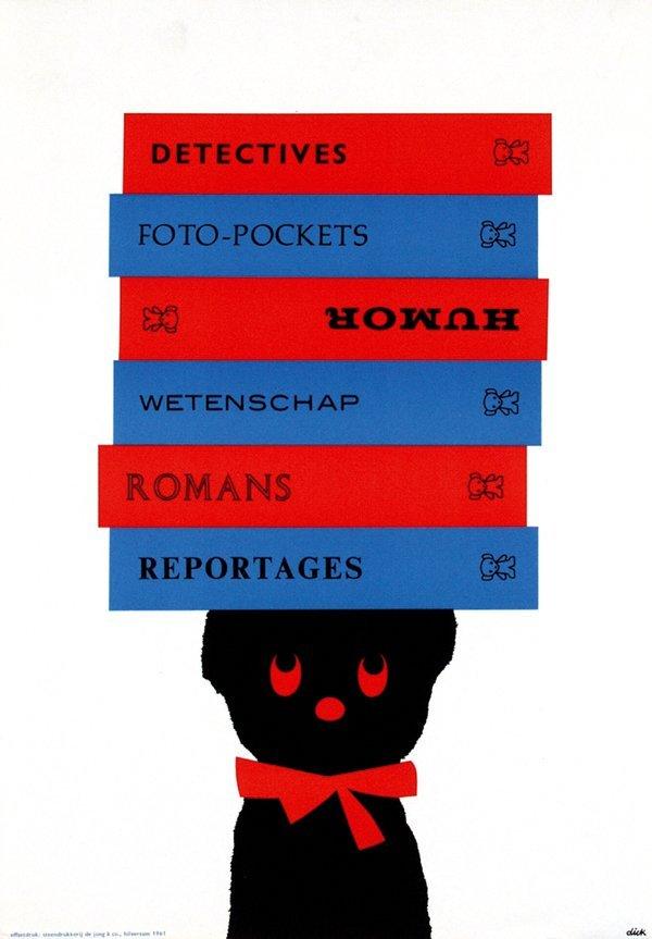 1: Poster by Dick Bruna - Zwarte Beertjes detectives
