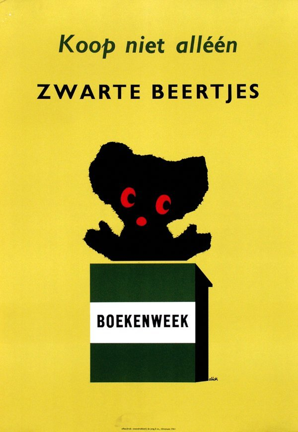 4: Poster by Dick Bruna - Koop niet alléén Zwarte Beert