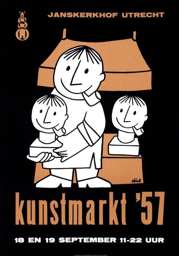 8: Poster by Dick Bruna - kunstmarkt '57