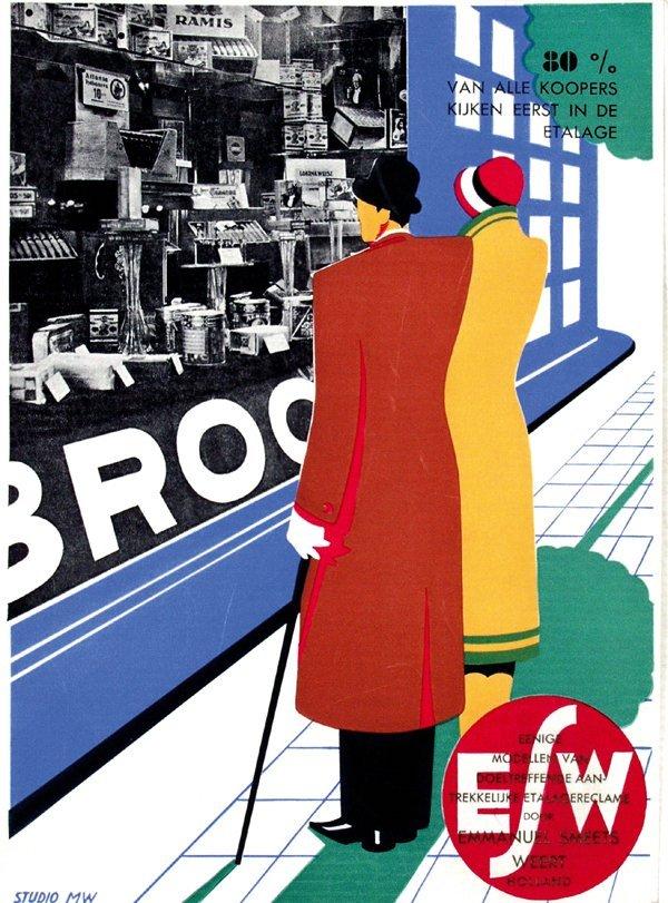 10: Poster by  Studio MW - Etalagereclame door Emmanuel