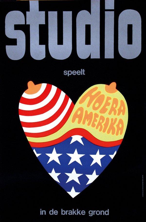 12: Posters(2) by Jan Bons - Studio speelt Hoera Amerik