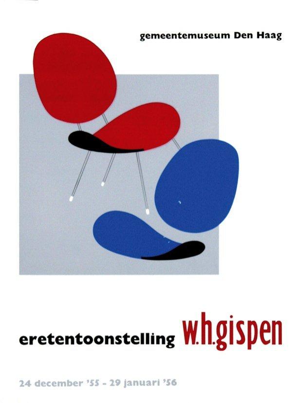 14: Poster by Willem H. Gispen - eretentoonstelling w.h