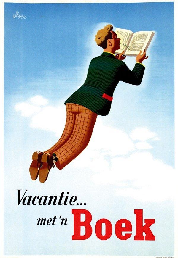 15: Posters(3) by Jan Wijga - Vacantie … met 'n Boek