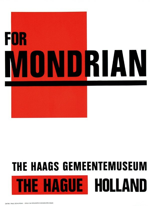 17: Poster by Paul Schuitema - for Mondrian
