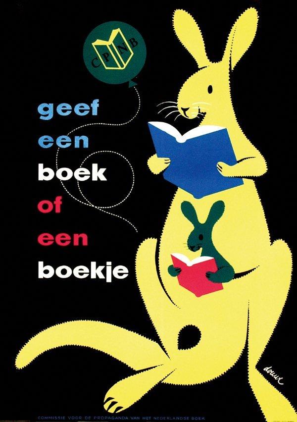 18: Posters(3) by Gerard Douwe - geef een boek of een b