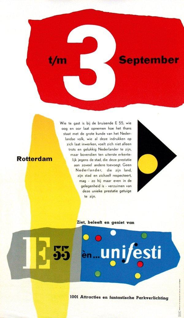 20: Posters(2) by Kees van Roemburg - E55 èn… unifesti