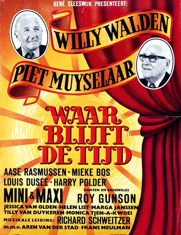 24: Posters(2) by Dick van de Bunt - Waar blijft de tij