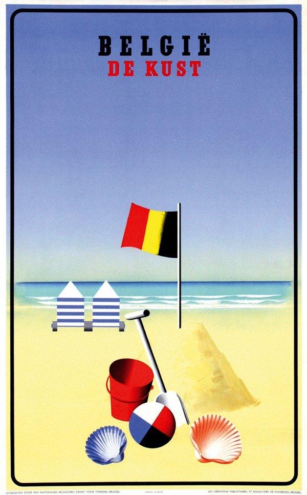 420: Poster by Leo Marfurt - België De Kust