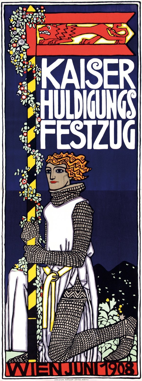 845: Poster by Bertold Löffler - Kaiser Huldigungs Fest