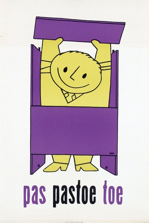 2: Poster by Dick Bruna - pas pastoe toe