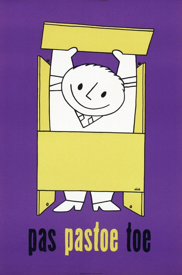 3: Poster by Dick Bruna - pas pastoe toe