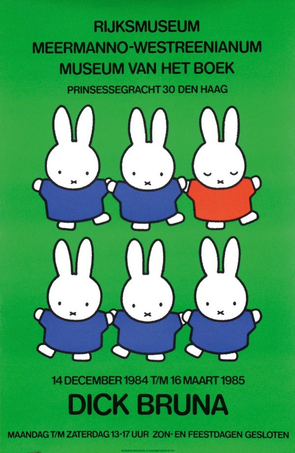 7: Poster by Dick Bruna - Rijksmuseum Meermanno-Westree