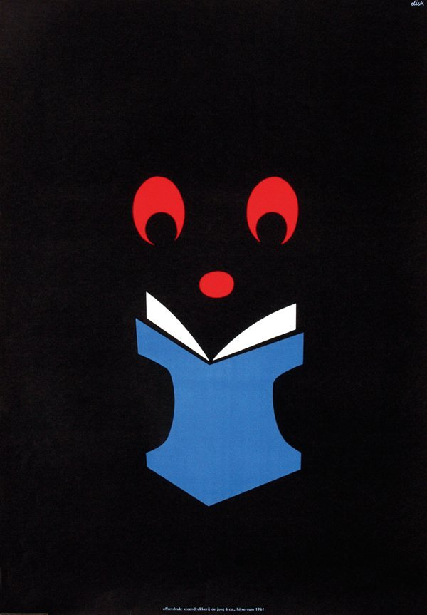 11: Poster by Dick Bruna - Without text (Zwarte Beertje