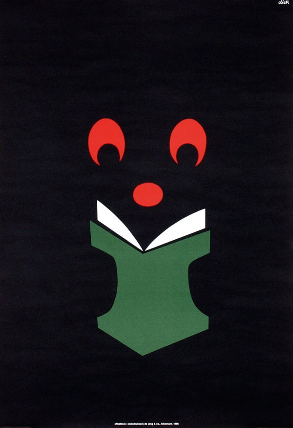 12: Poster by Dick Bruna - Without text (Zwarte Beertje