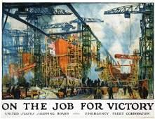 491: Poster by Jonas Lie - On the Job for Victory