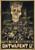 703: Poster by Frans Spuybroek - Volk van Nederland Ont