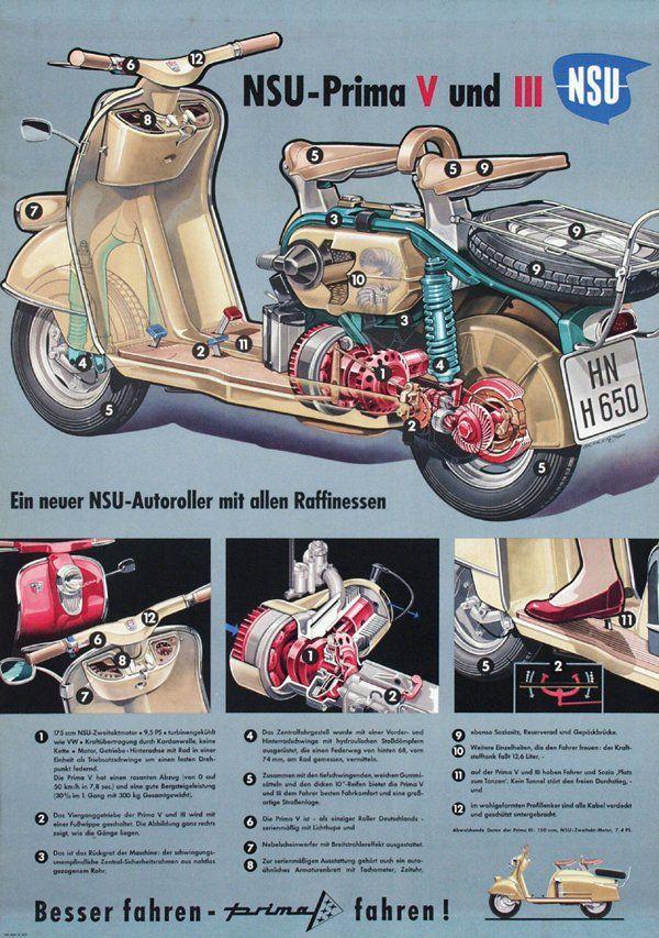 751: Poster by Herbert Schlenzig - NSU Prima V und III