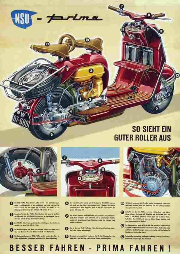 752: Poster by Herbert Schlenzig - NSU Prima