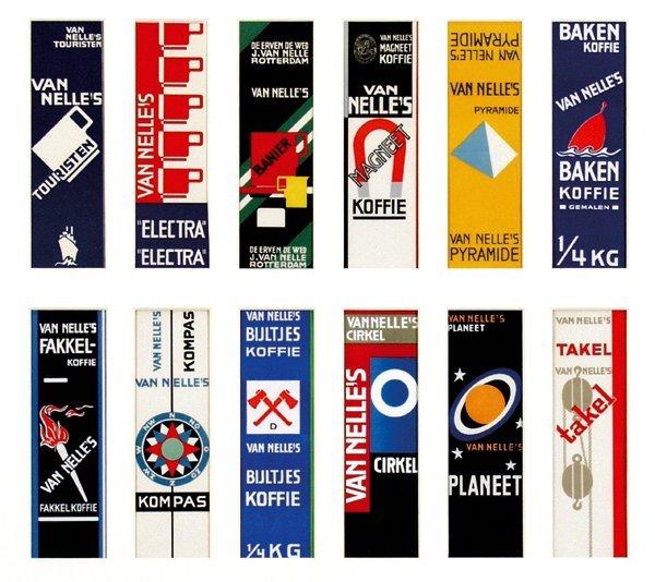 15: Complete collection Van Nelle's koffie labels