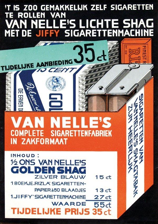 17: Van Nelle's lichte shag met de Jiffy sigarettenmach