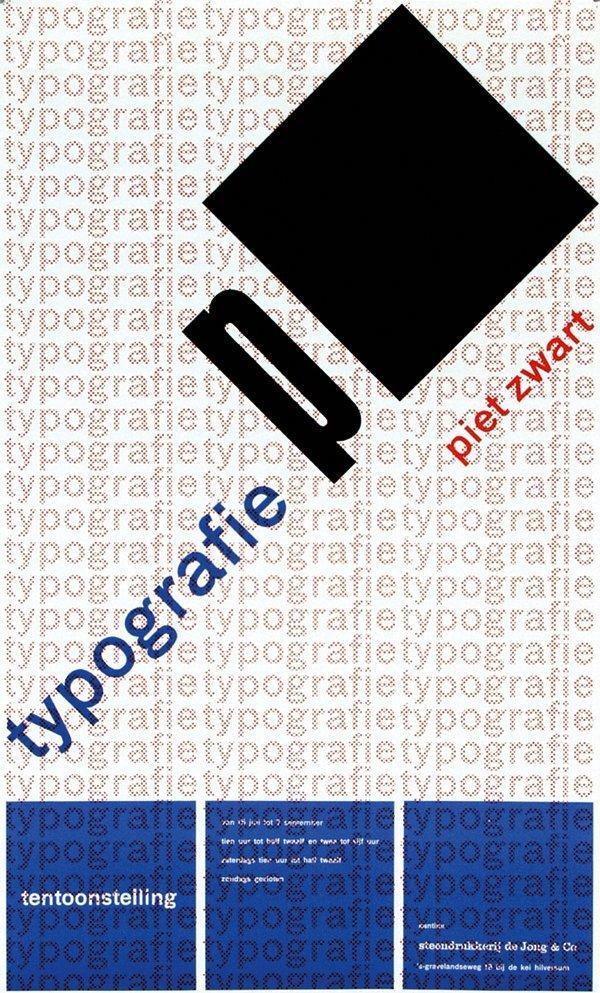 22: typografie piet zwart
