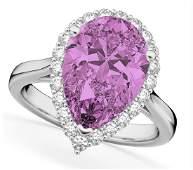 7.9 Carat Pink Sapphire Engagement Ring