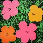 Andy Warhol, 1964 Flowers,Hand signed Silkscreen
