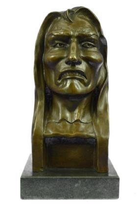 The Savage Bronze Sculpture Marble Base Figurine
