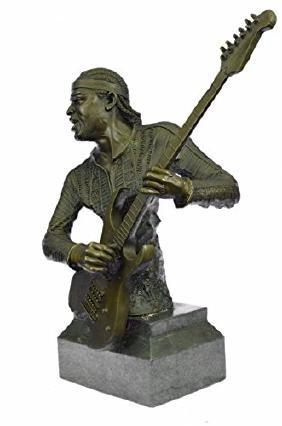 Jimmy Hendrix Playing His Guitar Collectible Sculpture