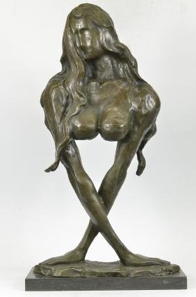 Mother With Baby Bronze Sculpture on marble base