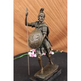 Drouot roman legion soldier warrior bronze Sculpture on